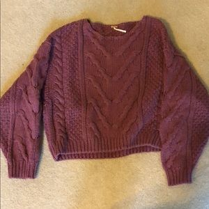 Free people knit cable sweater